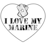 I Love My Marine - Dog Tags