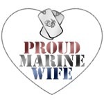 Proud Marine Wife - Red, White and Blue