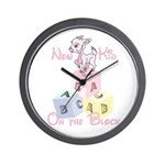 Girl New Kid on the Block Wall Clock