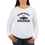 Property of a 891st Soldier Women's Long Sleeve T-