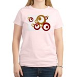 Retro Orange Circles Women's Light T-Shirt