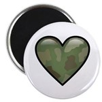 Love Military Cammo Heart Magnet