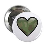 Love Military Cammo Heart Button