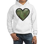Love Military Cammo Heart Hooded Sweatshirt
