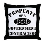 Property of a DOD Government Contractor Throw Pill
