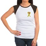 We Support You Yellow Ribbon Women's Cap Sleeve T-