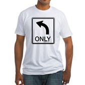Left Only Fitted T-Shirt