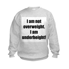I am not overweight... Kids Sweatshirt