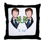 gay wedding pillow for grooms