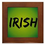 Irish Handwriting Framed Tile