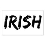 Irish Handwriting Sticker (Rectangular)