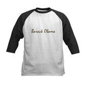 Script Barack Obama Kids Baseball Jersey