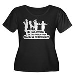 Chicken Dance Women's Plus Size Scoop Neck Dark T-