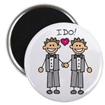 "Men's Gay Marriage 2.25"" Magnet (100 pack)"