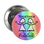 "Together Forever Lesbian 2.25"" Button (10 pack)"
