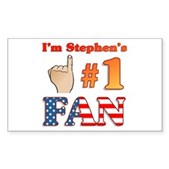 I'm Stephen's #1 Fan Rectangle Sticker