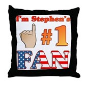 I'm Stephen's #1 Fan Throw Pillow