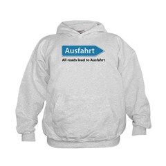 All roads lead to Ausfahrt Kids Hoodie