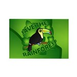 Save the Rainforest Rectangle Magnet