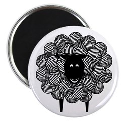 Warm and Wooly Sheep Magnet