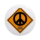 Peace Ahead Ornament (Round)