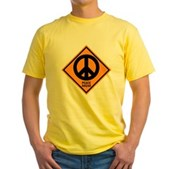 Peace Ahead Yellow T-Shirt