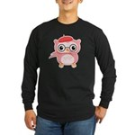 Le Pink Owl Long Sleeve Dark T-Shirt