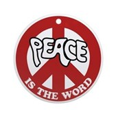 Peace is the word Ornament (Round)