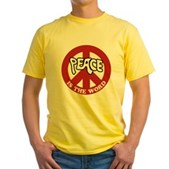 Peace is the word Yellow T-Shirt