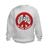Peace is the word Kids Sweatshirt