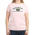 Patriotic Army Wife or Grandma Women's Pink Shirt