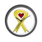I Am Proud Of My Son Yellow Ribbon Wall Clock