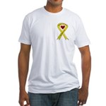 We Support You Yellow Ribbon Fitted T-Shirt