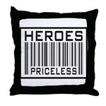 Heroes Priceless Support Our Troops Throw Pillow