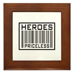 Heroes Priceless Support Our Troops Framed Tile