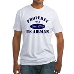 Property of a US Airman USAF Fitted T-Shirt