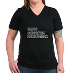 See DOS Run Women's V-Neck Dark T-Shirt