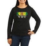 Proud Vietnam Veteran Vet Women's Long Sleeve Dark