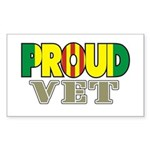 Proud Vietnam Veteran Vet Sticker (Rectangular)