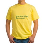 1,2,3,4,DIVE! Yellow T-Shirt