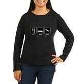 Eat Sleep Dive Women's Long Sleeve Dark T-Shirt
