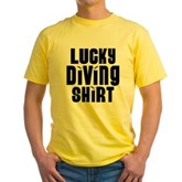 Lucky Diving Shirt Yellow T-Shirt