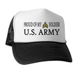 SGT - E5 - Proud of my soldier Trucker Hat