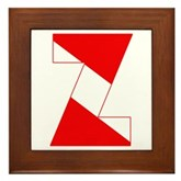 Scuba Flag Letter Z Framed Tile