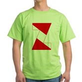 Scuba Flag Letter Z Green T-Shirt