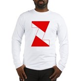 Scuba Flag Letter Z Long Sleeve T-Shirt
