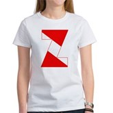 Scuba Flag Letter Z Women's T-Shirt