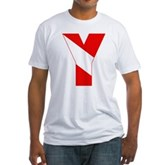 Scuba Flag Letter Y Fitted T-Shirt