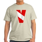 Scuba Flag Letter V Light T-Shirt