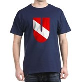 Scuba Flag Letter U Dark T-Shirt